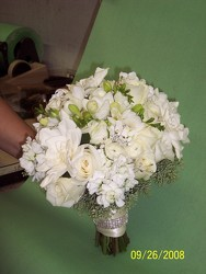 Hand Tied Bridal Bouquet Upper Darby Polites Florist, Springfield Polites Florist