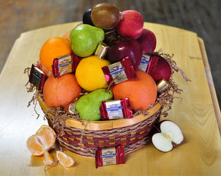 Fruit and Chocolate Basket Upper Darby Polites Florist, Springfield Polites Florist