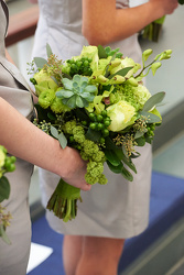 Graham Wedding Bridesmaid Bouquet Upper Darby Polites Florist, Springfield Polites Florist
