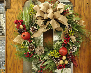 Holiday Wreath Upper Darby Polites Florist, Springfield Polites Florist