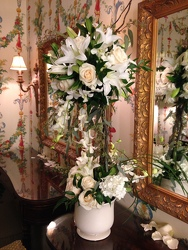 Wedding Ladies Room Arrangement Upper Darby Polites Florist, Springfield Polites Florist