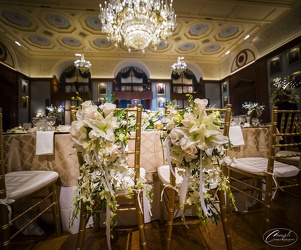 Laynas Bride and Groom Chair Upper Darby Polites Florist, Springfield Polites Florist
