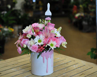 Paint The Town-Pink Upper Darby Polites Florist, Springfield Polites Florist