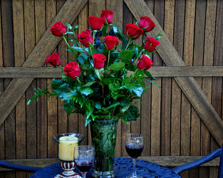 A Dozen Long Stem Red Roses