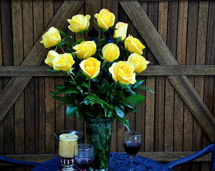 A Dozen Yellow Roses Upper Darby Polites Florist, Springfield Polites Florist